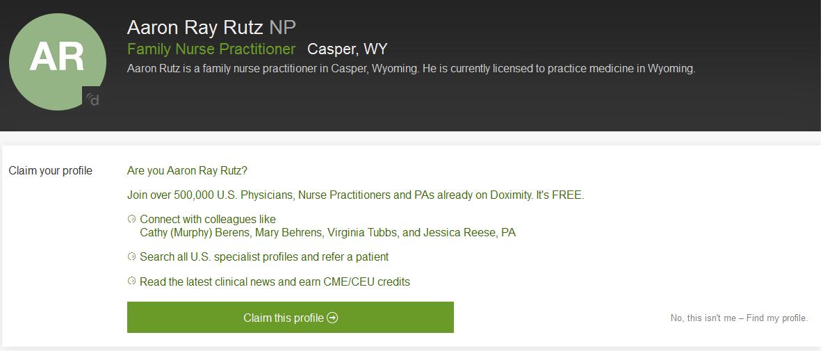 Family Nurse Practioner Database